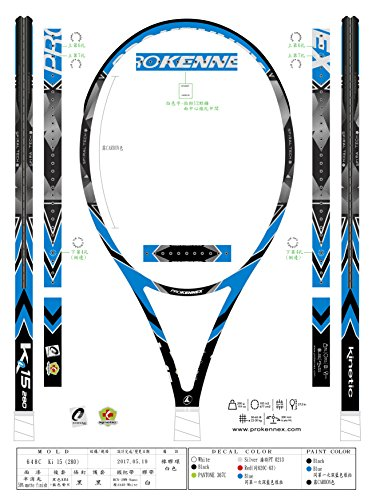 Pro Kennex Prokennex Tennis Racket Ki 15 280 gr, Unisex Adulto, Multicolore
