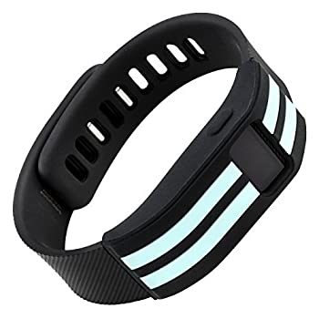 WITHit Designer Sleeve Compatible with Fitbit Charge/Fitbit Charge HR - Band Cover - Stripe  Teal