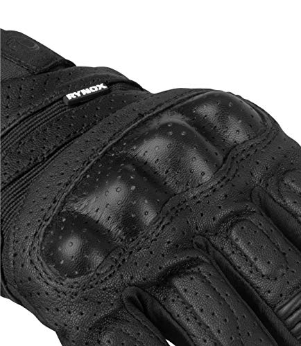Rynox Air GT All Season Mesh Grain Leather Gloves (Small, Black)