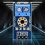 Sensore di tensione, modulo rivelatore di tensione stabile pratico a 3 terminali blu, 4 pezzi per parti elettriche 2,7 * 1,3 cm / 1 * 0,5 nei progetti