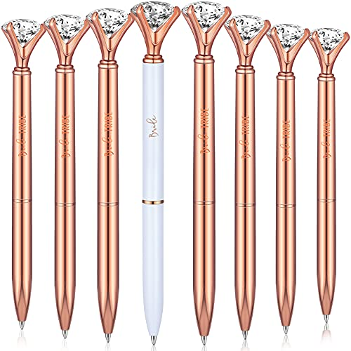 8 Pieces Will You Be My Bridesmaid Pens Crystal Diamond Ballpoint Pens Bride Pens Tribe Pens Bridesmaid Pens Bridal Shower Pens for Bridesmaid Proposal Boxes and Bridesmaids Bachelorette Party Favors