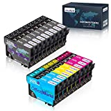 OfficeWorld 16XL Alta Capacidad Cartuchos de Tinta Compatible para Epson 16 con Epson Workforce WF-2630WF WF-2630 WF-2510 WF-2530 WF-2650 WF-2750 WF-2760 WF-2010 WF-2540 WF-2660 WF-2520,18 Multipack