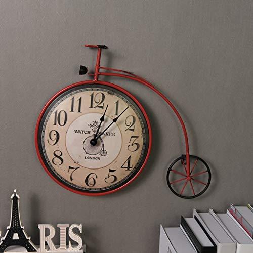 Horloge Murale r/étro en Fer forg/é en m/étal YESHUOYS pour Bureau Cuisine Salon Chambre Horloge Simple d/écoration de Salon-Noir/_40 cm