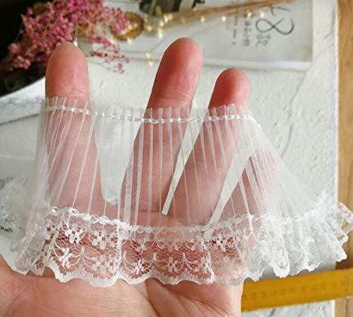 7cm breed nieuwe zwart wit borduurwerk bloem kant stof trim lint diy naaien applique kraag dubai guipurekleding bruiloft decor, wit