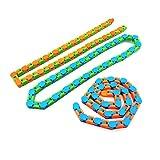 3pcs Wacky Tracks Spinner Toys, 24/48 Nudos Cadena Alivio del estrés Mano Spinning Wacky Track Fidget Toy Suppiles Especiales Favores de Fiesta para niños Adultos