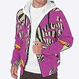 EUNNT Herren Pullover Winter Hoodie Jacke Workout Fleece Zebra gestreift Flamingo Dicke Mäntel 3XL...