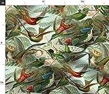 Spoonflower Stoff - Vintage Kolibri-Muster Große Antike