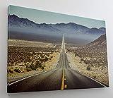 Route 66 Straße Freiheit Wüste Asphalt Leinwand Bild