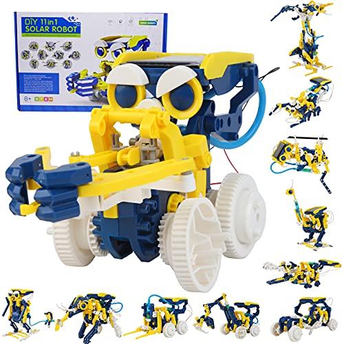 VEXTRONIC 줄기 장난감 11-IN-1 태양 로봇 장비에 대한 아이들-190 개 DIY 건설 로봇 장난감을 과학 실험 키트를 위한 아이 태양광 발전 로봇에 의해 태양을