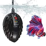【100 Watt Aquarium Heater】: For 10-30 gallons fish tank, 50W aquarium heater, voltage 110V, power cord 5(ft), the temp can be set to the values ranging from 65 to 93°F, please choose the right wattage aquarium heater according to our size chart 【Exte...