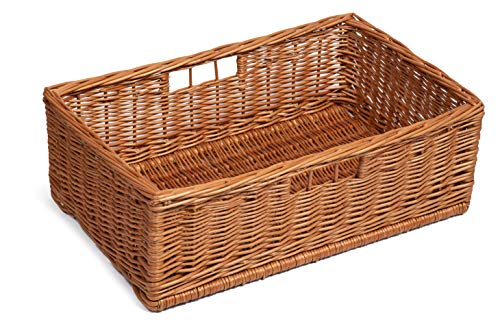 Large Display/Storage Wicker Basket 60Cm x 40Cm with hinger holes