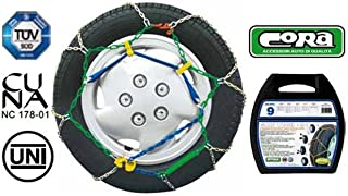 Snow Chains for Car Tyres 245/40 18 R18 Special Mesh, 9 mm, Approved