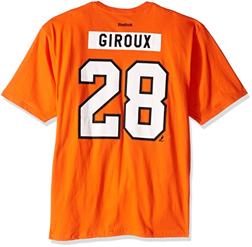 NHL Philadelphia Flyers #28 Claude Giroux Home Premier N and N Tee, X-Large, Orange