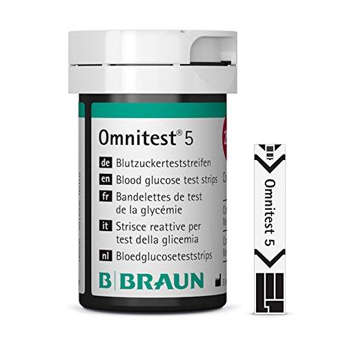 B. Braun Omnitest 5 Blutzucker Teststreifen Sensoren 100 Stück