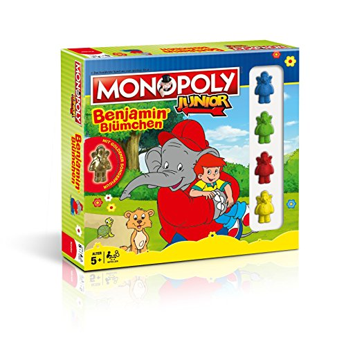 Hasbro Monopoly Junior Benjamin Collector' s Edition Include Dorata di Benjamin Speciale Figura
