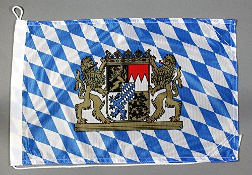 Buddel-Bini Bootsflagge Bayern 30 x 45 cm in Profiqualität Flagge Motorradflagge