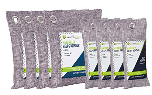 Purchase Breathe Green Bamboo Charcoal Air Freshener Bags (8-Pack), Activated Charcoal Odor Absorber...