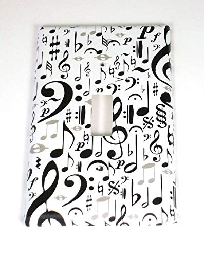 Single Toggle Music Note Light Switch Cover, High Note (104S)