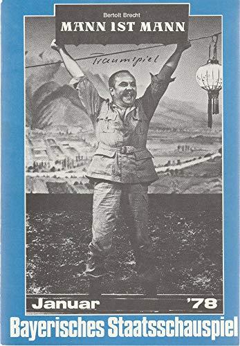 Programmheft August Strindberg TRAUMSPIEL Januar 1978