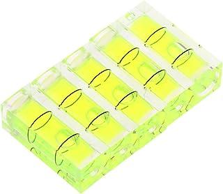 HELYZQ 5 peças 10 x 10 x 29 mm Universal Vial Square Bubble Level Tripé de câmera de medição