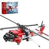 FYHCY Technology Rescue Helicopter Building Blocks Model Kit, 1137 Piezas Moc DIY HH-60J Helicopter City Fire Air Rescue Airplane Airplane Building Blocks compatibles con Lego Airplane