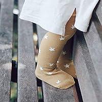 LIPENLI 素肌感 滑らか 暖かくする 幼児キッズタイツ女の赤ちゃんの薄パンストストッキングコットン新生児スターは、秋冬のウォームかわいいラブリーギフトを印刷します (Color : Yellow, Size : M)