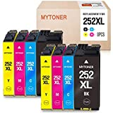 MYTONER Remanufactured Ink Cartridge Replacement for Epson 252XL 252 XL 252 Ink for Workforce WF-7620 WF-7710 WF-3640 WF-3630 WF-3620 WF-7610 WF-7110 Printer ( Big-Black Cyan Magenta Yellow,8-Pack)