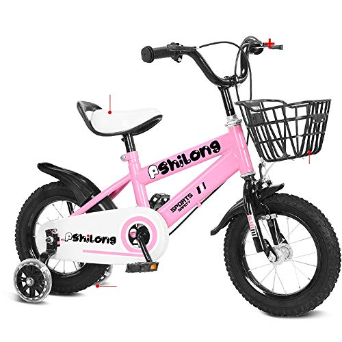 WMMING Kids'Bikes,Children 3-9 Years Old Bicycle,Boy Mountain Bike Outdoor Travel Bicycle Give Children Best Gift (Color : Pink, Size : 14INCHES)