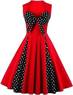 Killreal Women's Polka Dot Retro Vintage Style Cocktail Party Swing Dresses