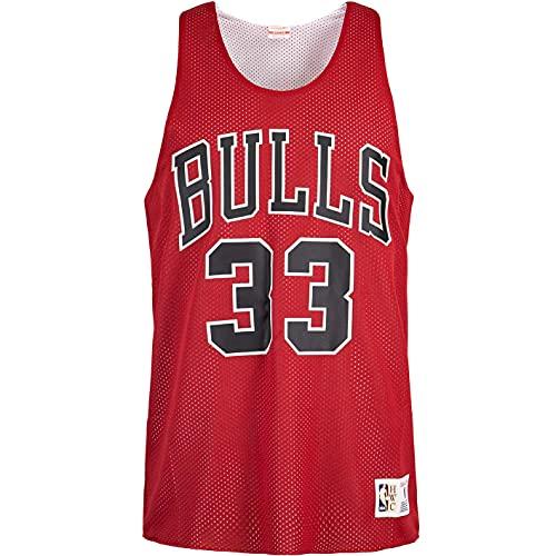 Mitchell & Ness Scottie Pippen Chicago Bulls - Camiseta de tirantes reversible, rojo, M