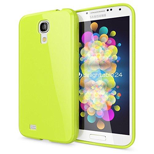 NALIA Custodia compatibile con Samsung Galaxy S4, Protezione Ultra-Slim Case Protettiva Morbido Cellulare in Silicone Gel, Gomma Jelly Telefono Cover Smartphone Bumper Sottile - Neon Verde Chiaro