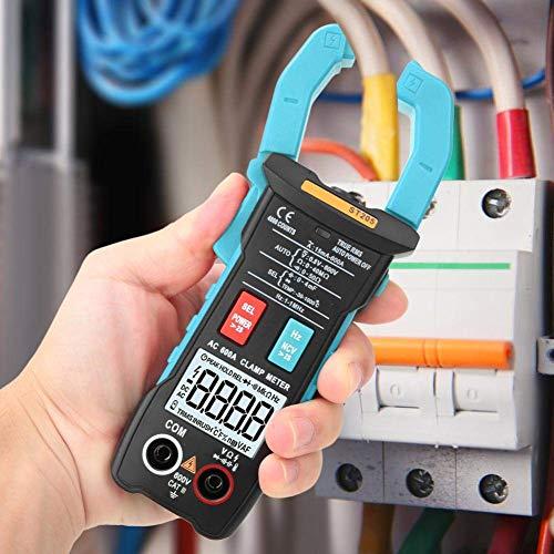 Yongenee Pinza multímetro digital, ST205 4000 cuentas completa inteligente rango de verdadero valor eficaz medidor digital for equipos eléctricos de prueba y mantenimiento automático (azul) Herramient