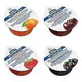 Menz&Gasser Confettura Extra Assortita Albicocca, Ciliegia, Fragola e Pesca, con Frutta di Alta Qualità, 100 porzioni x 25 g