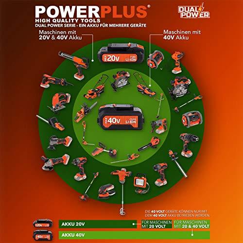 POWERPLUS POWDPG7532 POWDPG7532-Pack cortasetos cargador+batería 20v