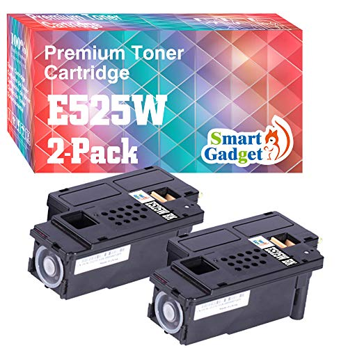 Smart Gadget Compatible Toner Cartridge Replacement for Dell E525W E525 525w to Work with E525w Wireless Color Printer for 593-BBJX (1-Pack, Black)