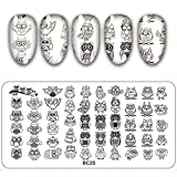1Pcs Peacock Feather Nail Art Stamping Plate Owl Butterfly Image Painting Nail Stencil Templates Manicure Nail Stamp Tools (Bc25)