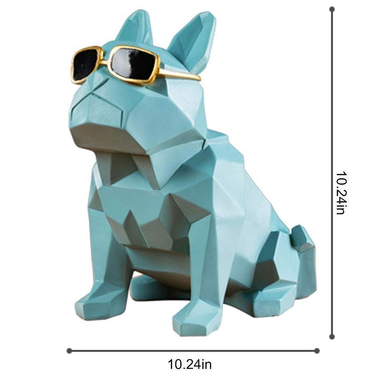 無礼に数学者子供っぽい幾何学的サングラス犬ワインラック装飾現代キャビネットワインキャビネット装飾クリエイティブ装飾樹脂ボトルホルダー装飾品