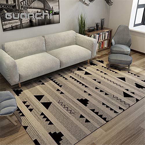 alfombras Comedor habitacion Juvenil Alfombra de Sala de Estar marrón, Resistente a la Suciedad, Resistente al Desgaste, Suave y Lavable a máquina alfombras a Medida Online 80X160CM 2ft 7.5' X5ft 3'