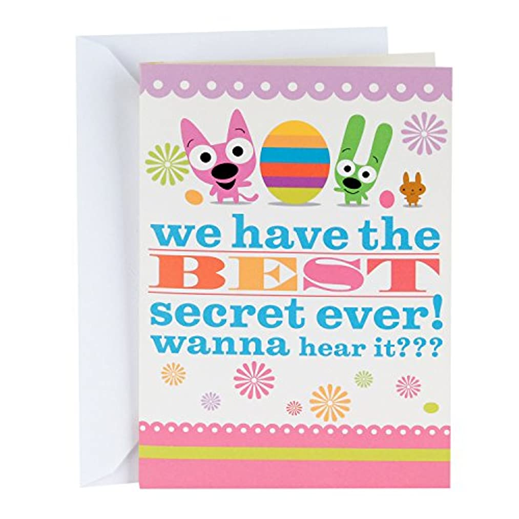 Hallmark Funny Easter Card With Sound for Kids (hoops and yoyo Best Secret Ever)