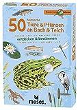 Moses 9761 Expedition Natur - 50 heimische Tiere und Pflanzen an Bach und Teich  Bestimmungskarten im Set   Mit spannenden Quizfragen