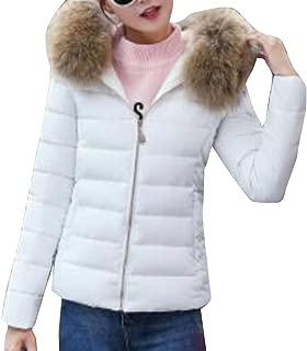 Women Regular-Fit Long Sleeve Waterproof Ski Fleece Parka Warm Faux Fur Collar Jackets