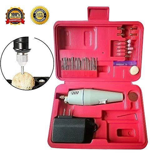 SRXING 1 Hand Sander, DIY, Small, Electric Drills,12W Mini Rotary kit,Micro Precision Grinder Jewelry polishing Tool, White