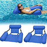Best Inflatable Water Lounges - 2pack Inflatable Swimming Floating Chair Pool Float Lounge Review
