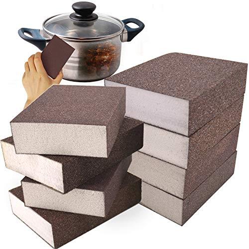 Sanding Sponge,Sanding Blocks,Woodworking Blocks,Washable and Reusable Sand Sponge for Kitchen Cleaning,Woodworking Polishing(8 Piece 4 Size)