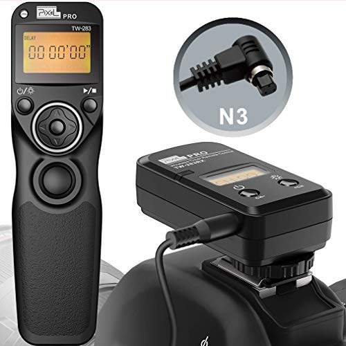 Pixel Wireless Remote Shutter Release Cable TW-283-N3 mer Remote Control Cord for Canon EOS-R5,R6,1D X Mark II, 1D X, 1D, 1Ds Mark III, 1D Mark III, 5D Mrak IV