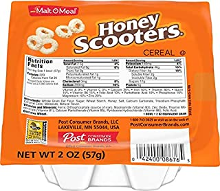 Malt-O-Meal Honey Scooters Breakfast Cereal, 48 Count