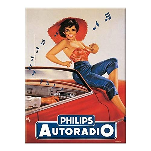 Cartexpo M15803 'Philips Autoradio' metalen kaart 15 x 20 cm [Franse taal]