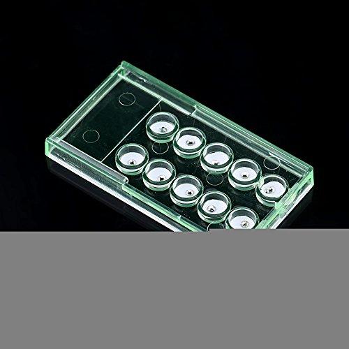 Adornos de cristal de diente, kit de joyería de diamantes de acrílico blanco brillante de 2 mm para dientes, decoración de uñas para tienda de manicura para el hogar para decoración de