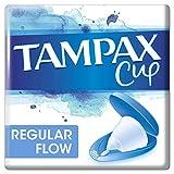 Tampax Copa Menstrual, Diseñada junto a una Ginecóloga, Flujo Regular, Incluye Funda de Transporte