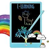 TEKFUN LCD schreibtafel 10 Zoll, buntes magnetisches maltafel zaubertafel, Löschbar und wiederverwendbar schreibtafel, Spielzeug ab 3 Jahre,kinderspiele,Geschenk mädchen,Lehrmittel für Kinder (Blau)